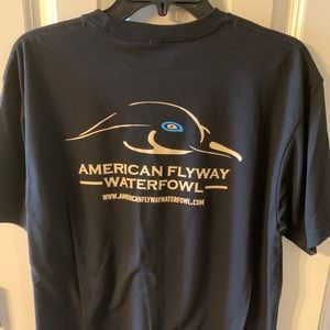Black American Flyway Waterfowl T-shirts NWOT